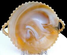 """IMPERIAL GLASS #3400 CANDLEWICK CARAMEL SLAG TWO HANDLED 8 5/8"""" PLATE 1966-1977"""
