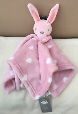 NEW Primark Early Days Pink Bunny Rabbit Comforter Blankie Blanket Soft Baby Toy