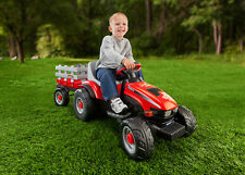 Case IH 6v Lil Tractor & Trailer - Battery Powered Kids Ride on