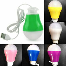 Popular DC 5V 5W Portable LED Bulb USB Light Reading Lamp White Light Power WC
