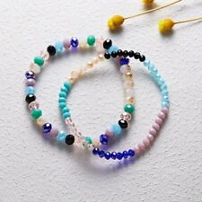 2pcs Handmade Women Colorful Faceted Crystal Beads Stretch Bracelet Bangle Gifts