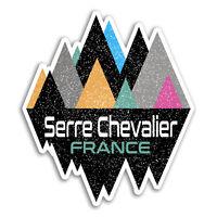 2 x 10cm Serre Chevalier France Vinyl Stickers - Sticker Laptop Luggage #18924