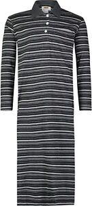 Men's 100% Cotton Knit Long Nightshirt Nightwear, Loungewear Pajamas Nightgown