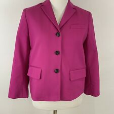 Ann Taylor Size 6P Petite Blazer Suit Jacket Pink Magenta Fuchsia  Career