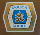 VINTAGE CANADIAN BEER LABEL - MOLSON BREWERY, GOLDEN BEER 12 FL OZ