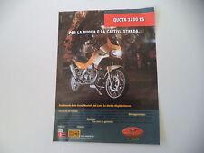 advertising Pubblicità 1999 MOTO GUZZI QUOTA 1100 ES