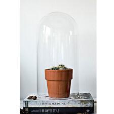 Soufflé à la bouche en verre clair circulaire display dôme CLOCHE BELL Tall 40 cm