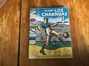 LOS CHARRUAS 1953 soccer sticker album GHIGGIA SCHIAFFINO MASPOLI MIGUEZ