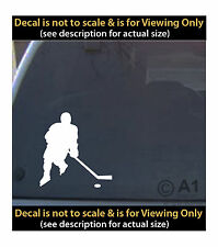 hockey player shooting 6 inch decal 4 car truck home laptop fun more SPT_55