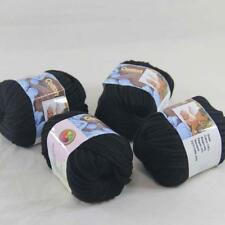 4BallsX50g Chunky Cotton Hand Knitting Smooth Special Wrap Thick Yarn Black 15
