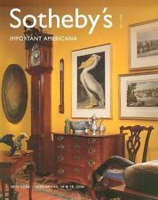 Sotheby's Important Americana Furniture Folk Art Post Auction Catalog 2004
