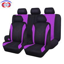 Full Set Car Seat Covers Set Universal fit Rear Seat 40/60 50/50 Split Purple