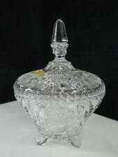 "Gorgeous Cut Lead Crystal 9"" Candy Dish - made in Western Germany"