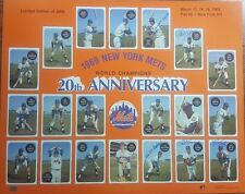 1969 New York Mets Hand Signed Poster W/CoA & Matching Hologram 9 Signatures