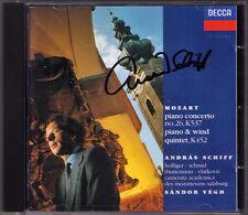 Andras nave firmato Mozart PIANO CONCERTO 26 Quintet Sandor Vegh CD Holliger