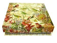 Punch Studio Keepsake Flip Top Nesting Box Aviary Garden 61933 Small