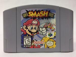 Super Smash Bros. N64 Game Cartridge Nintendo 64 Cartridge Only Tested