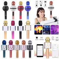 WS-858 Wireless Karaoke Microphone Portable Bluetooth KTV Mic Speaker USB Player