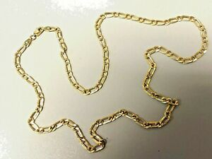 Oro Amarillo 9ct en cadena de plata de Belcher 16 18 20 22 24 26 30 36 pulgadas 6mm