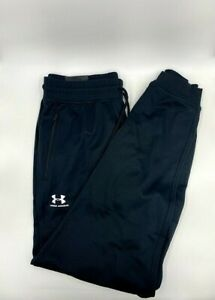 NEW Men's UNDER ARMOUR Black Cold Gear Loose Fit Pockets Sweat Pants Large