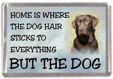 """Labrador Retriever Dog Fridge Magnet """"Home is Where"""" Design No 3 by Starprint"""