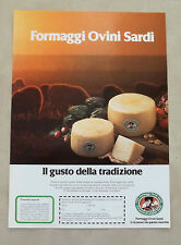 E953 - Advertising Pubblicità - 1985 - FORMAGGI OVINI SARDI