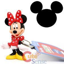 "Disney Minnie Mouse Key Chain 2.5"" PVC Figure Key Holder Red Dots Dress"