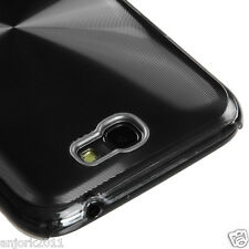 Samsung Galaxy Note II 2 BRUSHED ALUMINUM BACK COVER HYBRID CASE BLACK 08
