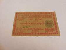 Philippines Emergency Currency Negros Currency Board One Peso - # 52329