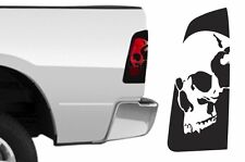 Dodge Ram 1500 2009-2018 Custom Brakelight Vinyl Decal Kit SKULL - Matte Black