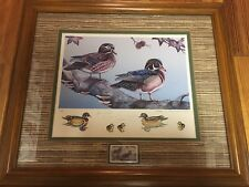 1989 Mississippi Department Of Wildlife Conservation Stamp Print with Stamp