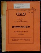 1953 YALE WORKSAVER ELECTRIC LIFT TRUCK MODEL M6P2748 PARTS LIST & DIAGRAMS