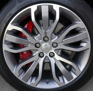 "Range Rover Sport 2014+ OEM 21"" Style 1 5 Split Spoke Silver Sparkle Wheel Set"