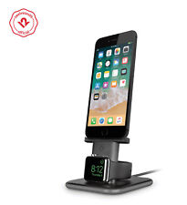 Twelve South HiRise Duet Dual Charging Stand for iPhone & Apple Watch space grey