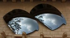 ACOMPATIBLE Polarized Lenses Replacement for-Oakley Bottle Cap - Silver Mirror