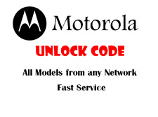 Unlock Code For Motorola Moto C E E3 E4 E5 G G3 G4 G5 Play 2nd 3rd 4th Gen Plus