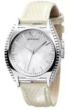 Emporio Armani Women's Watch AR-0766 Leather Band Silver