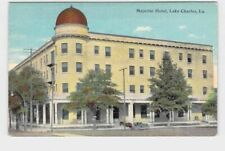 PPC POSTCARD LOUISIANA LAKE CHARLES MAJESTIC HOTEL EXTERIOR VIEW