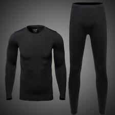 Thermal Underwear Men Ultra-Soft Long Johns Set with Fleece Lined Base Layer