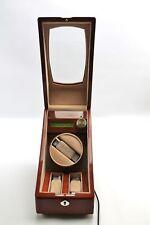 SmartWinders 3 Watch Storage Single Watch Winder Wood Grain Box Case