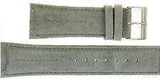 Uhrenarmband für Skagen Denmark Ersatzband 396LTLM grau Wildleder 26mm