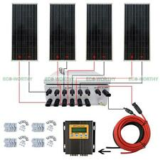 ECO 400W Off Grid Solar Panel System 100W Solar Panel Home Power Charger Kit