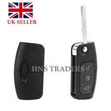 3 BUTTON UNCUT FLIP REMOTE KEY For FORD MONDEO/FOCUS/CMAX/GALAXY NEW + LOGO A08