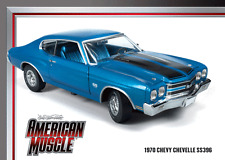 1970 Chevelle SS396 Lemans Blue 1:18 Auto World 956
