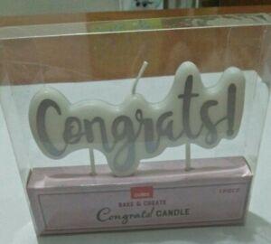 Birthday Cake Candle Congrats!