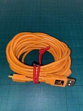Tether Tools TetherPro USB 2.0A/Mini-B 8Pin USB Cable 15 inches ORG [TET-CU...