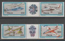 v4645 Italien/ Flugzeuge  MiNr 1752/55 ** m.Zierfeld