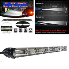 "270W 20"" Slim LED Work Light Bar Flood Spot Beam Car Off-road Driving Fog Lamp"