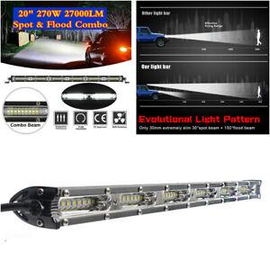 "270W 20"" Slim LED Work Light Bar Flood Spot Beam Car Off-road Driving Fog Lamp"