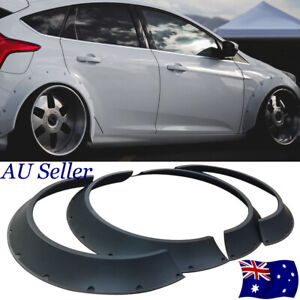 4Pcs Universal ABS Fender Flares Wheel Arches Body Kit 80mm + 60mm Width 840mm L